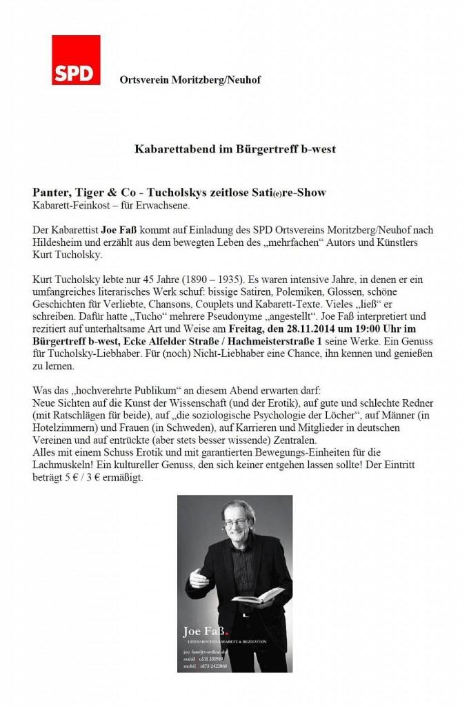 SPD Kabarettabend Tucholsky2