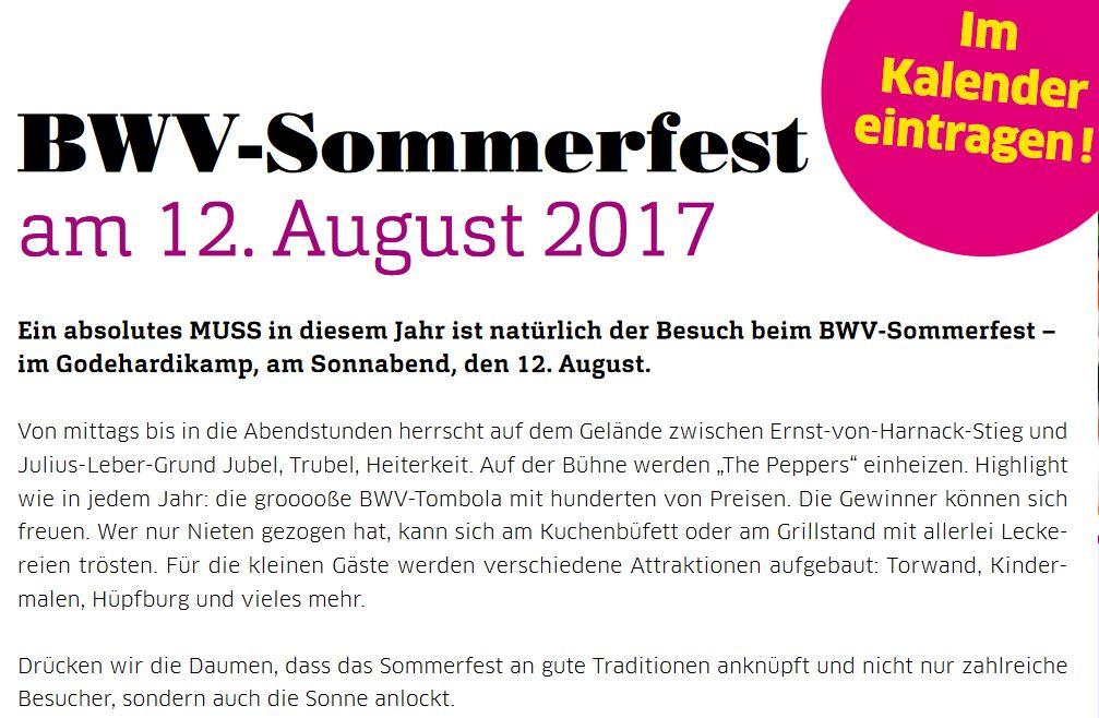 BWV-Sommerfest im Godehardikamp